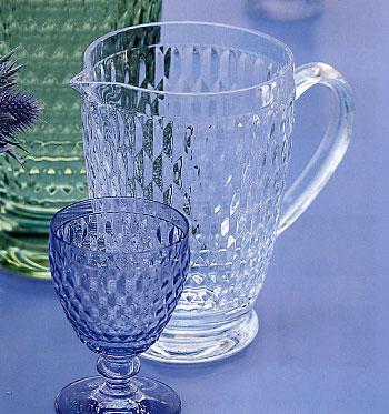 Bicchiere Acqua Vetro Azzurro