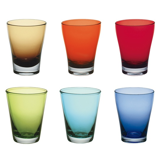 Bicchiere acqua set bicchieri 6 colori for Bicchieri colorati