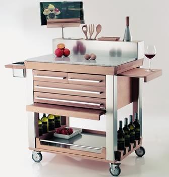 Carrello cucina carrello cucina h cm 92 - Carrello cucina acciaio ...